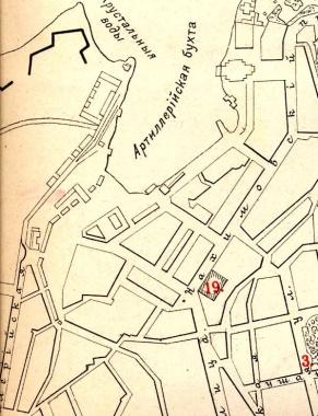2 Строения на западном берегу Артиллерийской бухты. 1907
