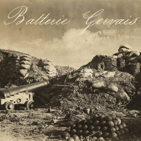 Gervais Battery (Batterie Gervais); Jean-Charles Langlois (French, 1789 - 1870); 1855; Salted paper print; 25.6 x 31.8 cm (10 1/16 x 12 1/2 in.); 84.XM.395.18