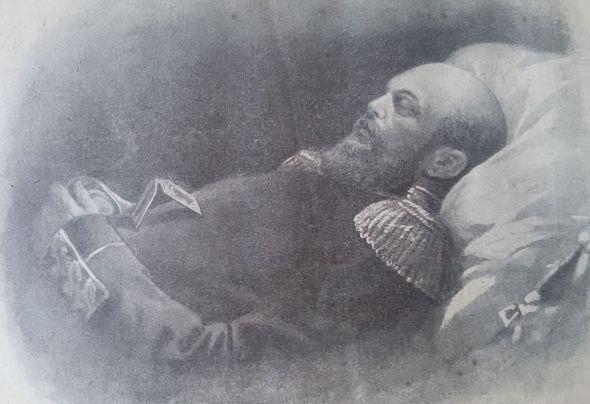 Император Александр III на смертном одре